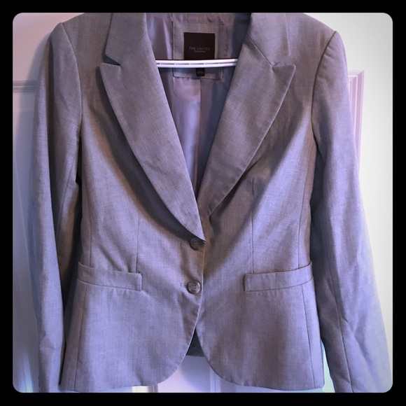 The Limited Jackets & Blazers - Gray Suite Jacket- Limited